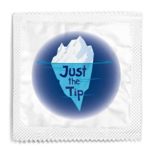 Just the tip funny condom