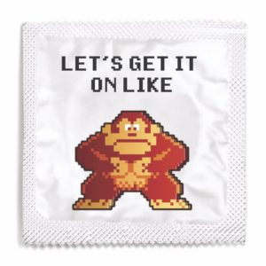 Let's get it on like Donkey Kong funny condom
